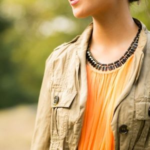Lulu Frost Wavelength Necklace Gold and Black